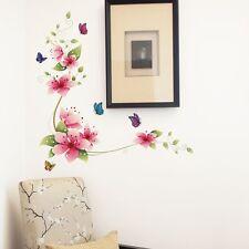 Floreciente Flor Vid Mariposa Adhesivos De Pared Mural Artístico Hogar 25 70 cm