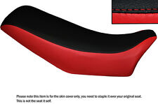 RED & BLACK CUSTOM FITS HONDA XLV 750 R 84-86 DUAL LEATHER SEAT COVER