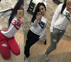 Women Casual Tracksuit SweatSuit Athletic Apparel Sport Wear Sweatshirt Leggings