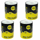 400 CDR MAXELL BLANK DISCS CD-R RECORDABLE CD 700 MB-80 MIN 52x SHRINK WRAP