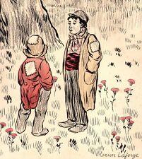 Lucien Laforge. Dessin original, encre et crayons vers 1910