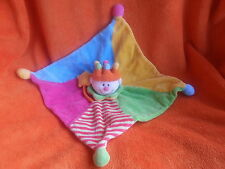Jolly baby King prince jester colourful baby comforter blankie doudou