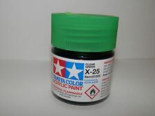 Tamiya Color Acrylic Paint Clear Green #X-25 (23 ml) NEW