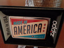 ZIPPO MADE IN AMERICA USA FLAG LAND OF THE FREE ZIPPO LIGHTER MINT IN BOX