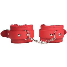Sexy Red Leather Chain Handcuffs Restraints Adult Role Play Costume Hen Party