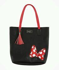 DISNEY PARKS BOUTIQUE MINNIE MANIA MOUSE SHOULDER BAG TOTE BLACK RED BOW