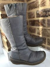 Women's Dr Martens Auth Rare Grey grizzly bark leather calf boots UK 4 EU 37