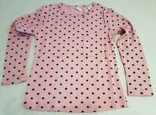 Shirt Oberteil Pullover für Mädchen rosa mit schwarzen Punkten Gr. 134 / 140 NEU