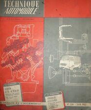 Revue technique FOURGON CITROEN HY 72 1500 Kgs HZ 72 850 Kgs 9CV RTA 230 1965