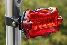 5 LED Bike coda Luce allarme MTB Ciclismo posteriore di sicurezza Flash Light