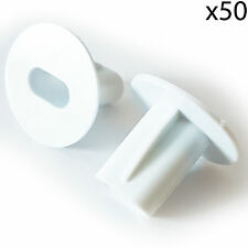 50x 8mm White Twin Shotgun Cable Bushes -Through Wall Cover- RG6 Coax Hole Tidy