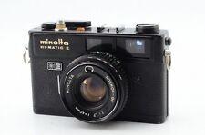 *Ex Rare* Minolta Hi-Matic E Rare Black Film Rangefinder Camera 5126