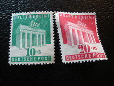 ALLEMAGNE (bizone) - timbre yvert et tellier n° 69 70 nsg (A1) stamp germany