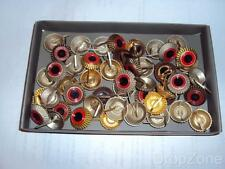 50 x German Military / Fire Brigade Peaked Cap Cockade Badges Assorted