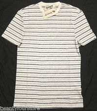 NWT $45 Topman Ltd by Topshop Velo Grey Stripe T Shirt sz XXS