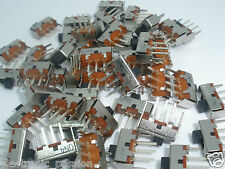 5 pcs Miniature SPDT Vertical PCB Slide Switch 125Vc 300mA Electronic Components