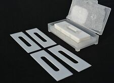 """57mm x 19 x .4 CERAMIC Slotted Slitter Blades  """"slotted slitters"""" - double edged"""
