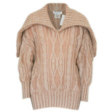 CHRISTIAN DIOR BOUTIQUE oversized mohair blend cape collar cable knit sweater M