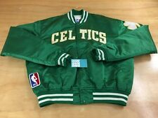 Vintage Starter Brand NBA Boston Celtics Button Up Satin Varsity Bomber Jacket