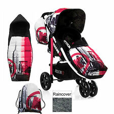 NEW KOOCHI BROOKLYN PM PUSHMATIC 3 WHEELER PUSHCHAIR BABY STROLLER & ACCESSORIES