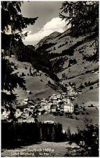 Saalbach Land Salzburg alte Postkarte 1961 gelaufen Gesamtansicht Berge Wald