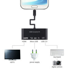 MHL HDMI HDTV + MICRO SD CARD + OTG +Charge Adapter Convertor For Samsung Galaxy
