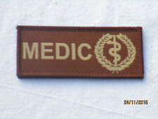 MEDIC, Medical Unit ID Patch, Klettverschluß,braun