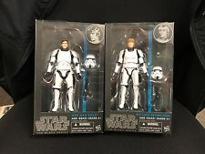 Star Wars Black Series Stormtrooper Luke Skywalker & Han Solo 6in figures #9 #12