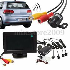 Car Visual Reversing Camera Kit LCD Monitor & Backup Parking Sensor Radar System