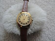 Vintage Timex Electric Ladies Watch - Brown Leather Band