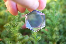 Tanzanite-Lavender Aura Quartz 6 Sided Star of David Pendant-H2O-Regnerates