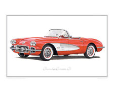 Chevrolet Corvette C1 - Limited Edition Classic Car Print Poster by Steve Dunn