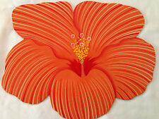 Hibiscus Floral Placemat Art Wall Hanging Decor Hand painted BNWT