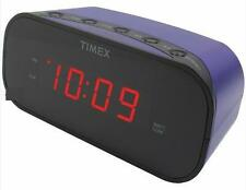 Timex Purple Electric Alarm Clock Battery Backup Soft/Loud