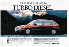 Publicité Advertising 1992 (2 pages) Opel Astra Turbo Diesel