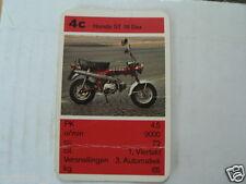 13 MOPEDS/MOTO LIGHT 4C HONDA ST70 DAX KWARTET KAART, QUARTETT CARD NOT OK