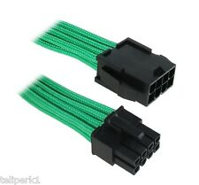 BitFenix Alchemy MultiSleeved Cable Intel EPS 8-pin Extension, Green w/Black Con