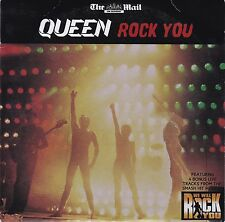 QUEEN - ROCK YOU  RARE PROMO CD  THE DAILY MAIL