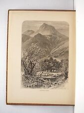LANGDALE PIKES Wood Engraving by W.H.F. Boot 1800's
