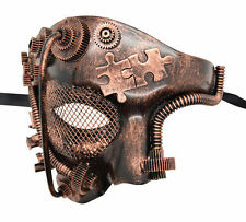 New Steampunk Style Bronze Phantom Half Face Men Masquerade Mask Prom Party
