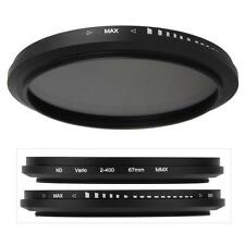 67mm Variable Neutral Density ND Fader Filter Lens ND2 ND8 ND16 to ND400