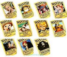 42x29cm One Piece Wanted Poster 11pcs nami sanji zoro luffy Hat Pirates Ace Robi