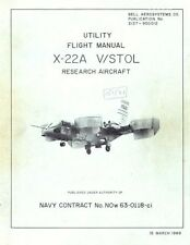 Bell X-22 X-22A Archive Manual V/STOL X-plane research prototype exp RARE