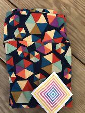 LuLaRoe LLR Tall Curvy Leggings Black Colorful Hexagon Shape Geometric  Legging