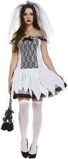 Adults Ladies Halloween Party One Size Zombie Bride Fancy Dress Costume