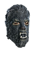 Adult Mens WOLFMAN Mask Vinyl Were Wolf Dark Grey Gray Masque Costume Accessory