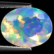 1.55 Ct Natural Ethiopian Faceted Opal Gemstone Multi Color Oval Cut