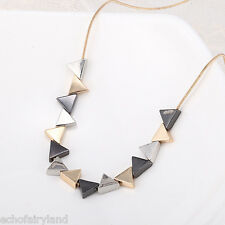 1 Pc Geometric Triangle Shaped Pendant Necklace Creative Design Fashion Jewelry