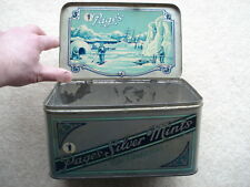 VINTAGE PAGE'S SILVER MINTS SWEETS TIN WITH ARCTIC EXPLORATION THEME/PICTURE