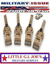 (4) Military USMC ILBE Rucksack & Army Multicam Assault Pack Replacement Buckles